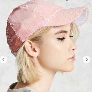 Accessories - ✨🔥•BOGO FREE•🔥✨ Pink Sequin Baseball Cap